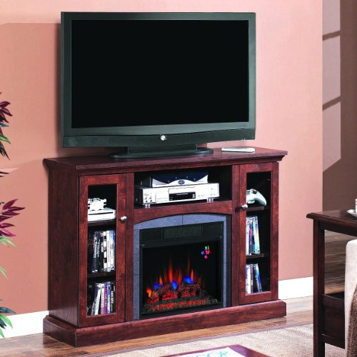 Classicflame 18de9033-pc81 Advantage Bancroft Dual Use Electric Fireplace With Media Console - Engineered Antique Cherry photo B005T08UWG.jpg