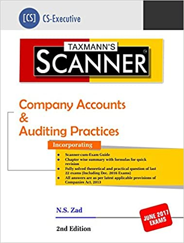 Scanner-Company Accounts & Auditing Practices (CS-Executive) (