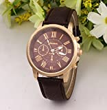 選べる 5 色 おしゃれ 腕時計 ウォッチ ユニセックス メンズ レディース かっこいい かわいい スーツ に 似合う (ブラウン)