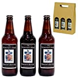 3 x Personalised Yorkshire Ales Gift Box, Includes 500ml Black Sheep Ale, 500ml Golden Sheep Ale, 500ml Riggwelter Ale with Personalised Labels in a Gold Gift Box - Luxury Valentines, Mothers, Fathers Day, Keepsake Birthday Gifts for Men, Him, Dad, Broth
