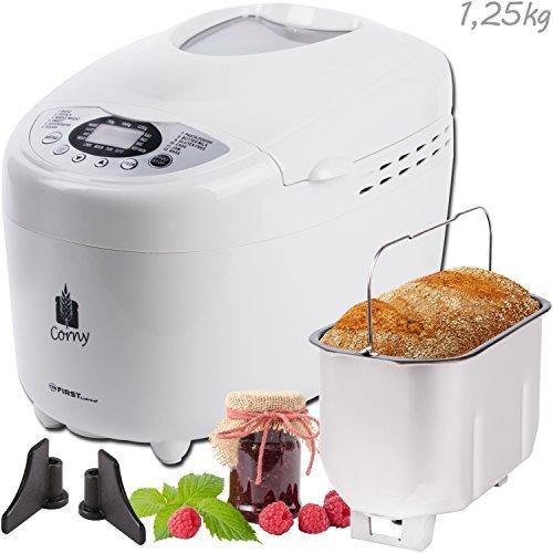 750-1250g-Brotbackautomat-mit-2-Knethaken-und-Nudel-und-Pizza-Teig-Programm-Marmelade-Programm-850-Watt-12-Programme-Warmhaltefunktion-Verzgerungs-Funktion-bis-15-Stunden-17-Rezepte