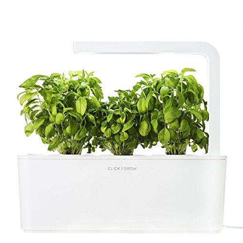 click-grow-indoor-smart-herb-garden-with-3-basil-cartridges-white-lid