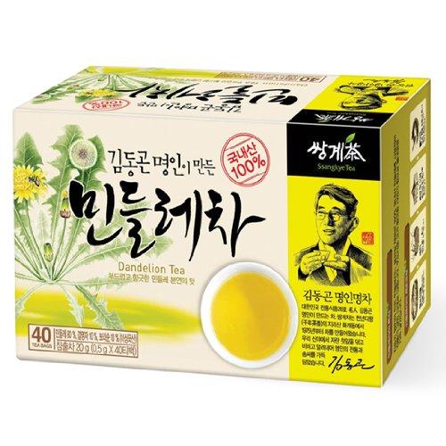 Organic Dandelion Tea 40 Tea Bags, Premium Korean Herb