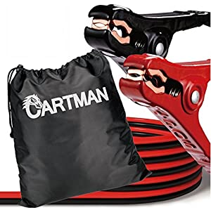 Cartman Booster Cables 10 Gauge 12 Feet in Carry Bag