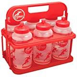 Cramer 023802 Six Water Bottles With Collapsible Water Bottle Carrier