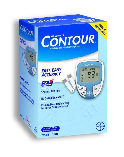 Cheap Bayers CONTOUR Blood Glucose Monitoring System BAYER HEALTHCARE LLC 7151 (B003AXXYA2)