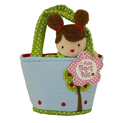 Aurora World Plush - Mini Fancy Pals Doll Carrier - GIRL in Blue with Tree Carrier (5 inch)