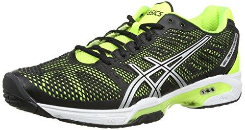 Asics Gel-Solution Speed 2, Scarpe sportive, Uomo, Nero (Onyx/Flash Yellow/Silver 9907), 40.5