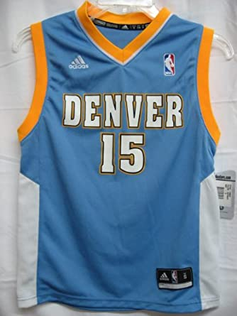 Carmelo Anthony Denver Nuggets Light Blue NBA Youth Revolution 30 Replica Jersey (X-large 18/20)
