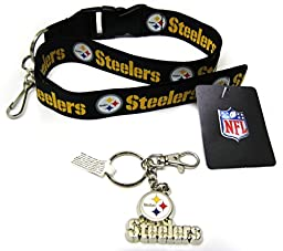 NFL Pittsburgh Steelers Keychain and Lanyard -PACK-