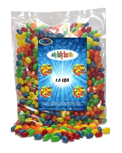 Jelly Belly Sour Mix Variety 1.5 lbs Jelly Beans 5 Flavors (Starburst Jelly Beans Sour compare prices)