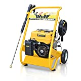Wolf 200 Bar (3000psi) 6.5 HP Petrol Driven Pressure Power Washer With Solid Steel Frame