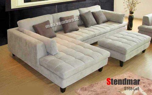 timeless design 44cc0 b5e6c 3pc Contemporary Grey Microfiber Sectional Sofa Chaise ...