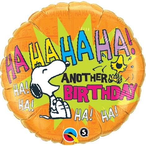 "Snoopy Peanuts HaHaHa Happy Birthday 18"" Foil Balloon - 1"
