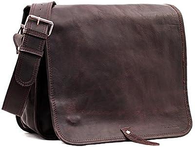 LE MESSAGER (L) cuir couleur INDUS besace gibeciàšre format (A4) style Vintage PAUL MARIUS