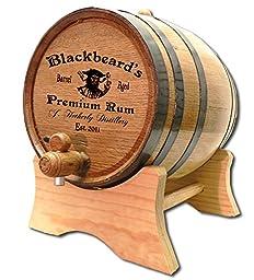Personalized Blackbeard\'s 5 Liter White Oak Barrel