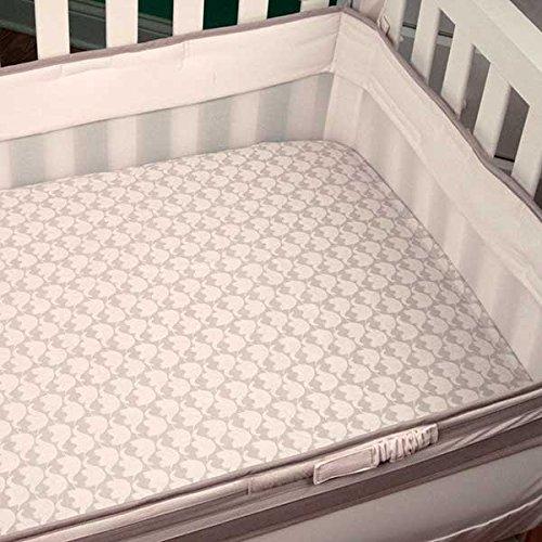 Safe Sleep Grey Crib Liner front-176623