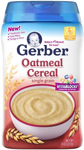 Gerber 1st Foods Baby Cereal - Oatmeal - 8 oz (Gerber Baby Food Case compare prices)