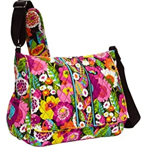 vera bradley messenger baby bag va va bloom vera bradley diaper bag va va bloom. Black Bedroom Furniture Sets. Home Design Ideas
