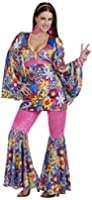 Forum Novelties Women's 60's Revolution Hip Flower Child Go-Go Costume