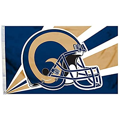 NFL Los Angeles Rams Popular Helmet Design Flag, 3' x 5'