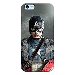 ColourCrust New Apple iPhone 6 Mobile Phone Back Cover With Captain America - Durable Matte Finish Hard Plastic Slim Case
