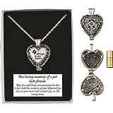 Cathedral Art Pet Memorial Urn Locket-heart Shaped-silver Tone Filigree