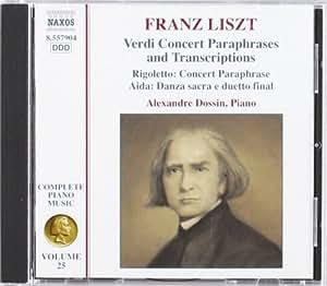 Verdi Opera Transcriptions