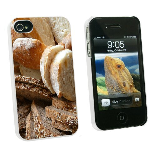 Bread - Loaf Rye Italian French - Snap On Hard Protective Case for Apple iPhone 4 4S - White