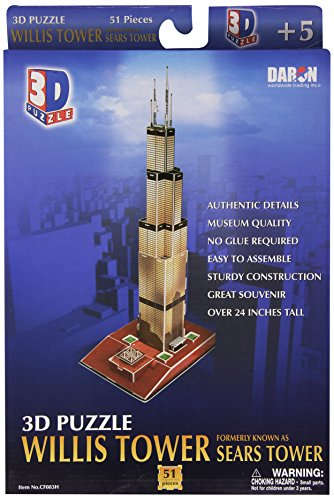 Daron Willis Tower 3D Puzzle, 51-Piece
