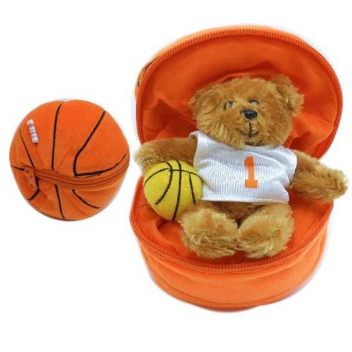 Round Zippered Basketball Bear