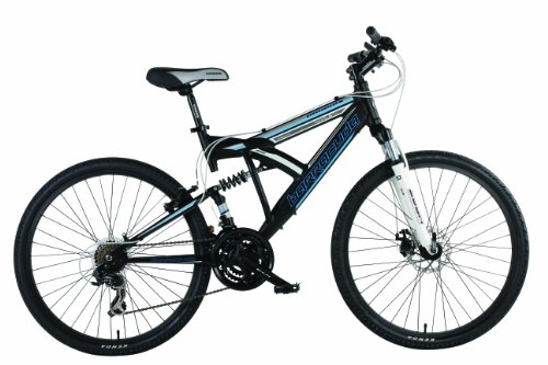 Barracuda Men's Phoenix Dual Suspension Mountain Bike - Black ( Wheel 26 Inch, Frame 18 Inch)