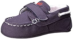Ralph Lauren Layette Sander EZ Crib Shoe (Infant/Toddler), Navy, 2 M US Infant