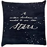 Snoogg Darkness To See The Stars Cushion Cover Throw Pillows 16 X 16 Inch