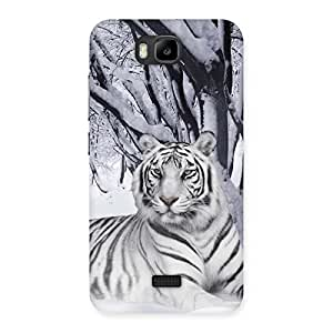 Stylish Snow Tiger Back Case Cover for Honor Bee