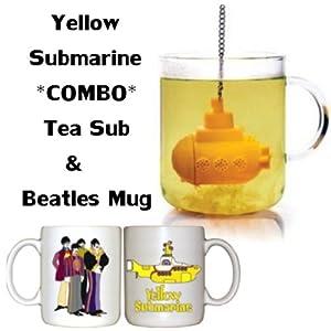 Amazon.com: Yellow Submarine Bundle - Tea Sub Infuser & Beatles Mug (WHITE): Kitchen & Dining