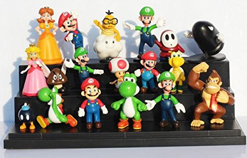Super Mario Bros PVC Action figures Toys Dolls 18 pcs/set SMFG004