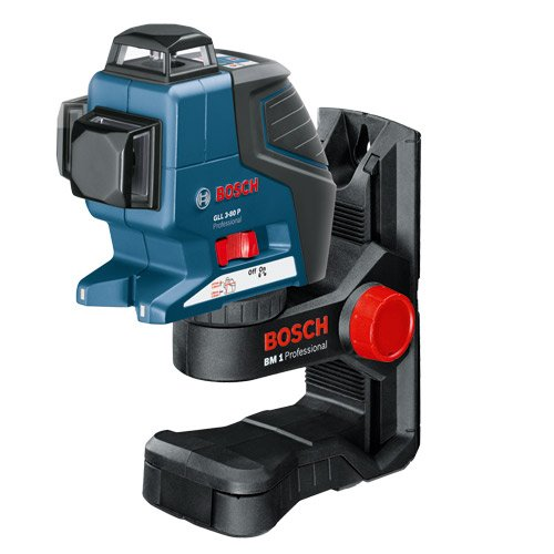 Bosch GLL3-80P 360 Degree Vertical and Horizontal Line Laser + BM 1 Wall Mount