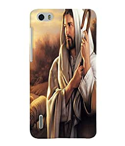 Fuson 3D Printed Lord Jesus Designer Back Case Cover for Huawei Honor 6 - D533