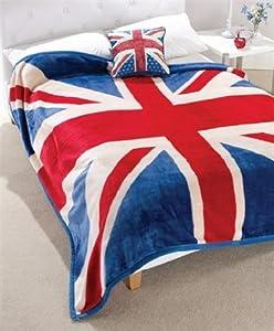 Union Jack Überwurf, Tagesdecke, Kuscheldecke, Großbritannien, England, ca. 200 x 200 cm
