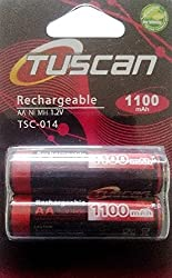 Tuscan AA 1100 mAh Rechargeable Battery