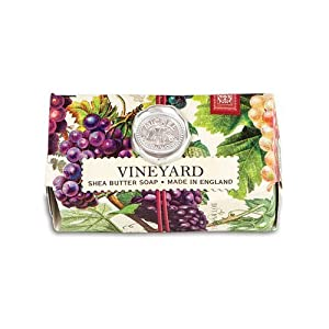Michel Design Works Triple Milled Bath Soap Bar, Vineyard, 9 Ounce