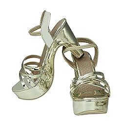 HEEL WEDGES SANDAL SILVER COLOR SMART FOOTWEAR (38)