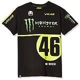 ヤマハ(YAMAHA) VR46 バレンティーノ ロッシ Tシャツ モンスターエナジー&46ロゴ ブラック XLサイズ Q5D-YSK-194-00X