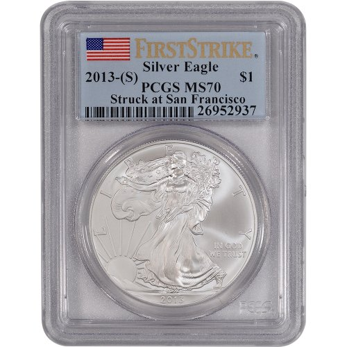 2013 (S) American Silver Eagle $1 MS70 - First Strike PCGS