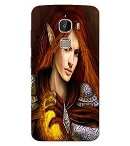 ColourCraft Warrior Princess Design Back Case Cover for LeEco Le 2