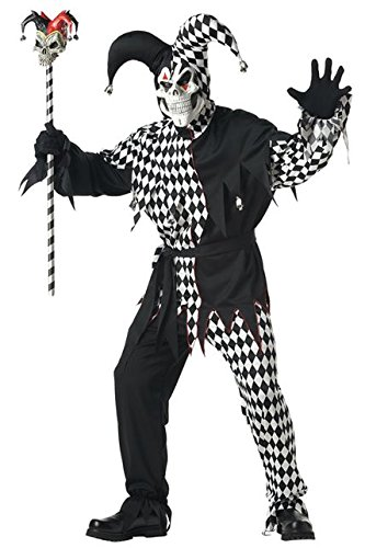 Evil Jester Costume - Medium - Chest Size 40-42