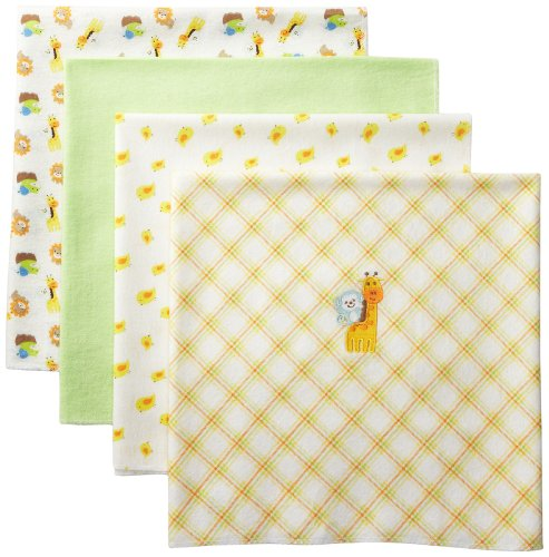 Carter's Watch the Wear Unisex-Baby Newborn 4 Pack Receiving Blankets - 1