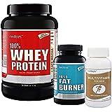 Medisys Lean Muscle Combo Whey Protein - Café Mocha -1kg +Fat Burner [Free Multivitamin]