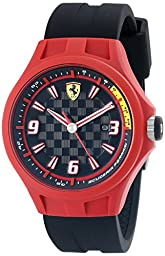 Ferrari Men\'s 0830006 Pit Crew Analog Display Quartz Black Watch